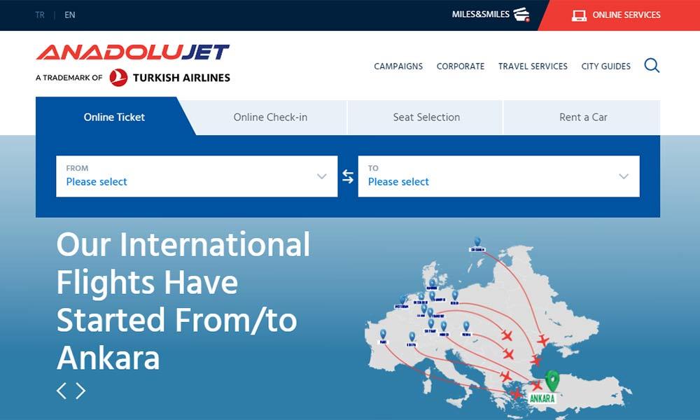خرید بلیط هواپیما از آنادولوجت anadolujet - شرکت خرید بلیط هواپیمایی